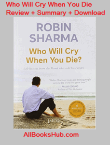 who will cry when you die pdf