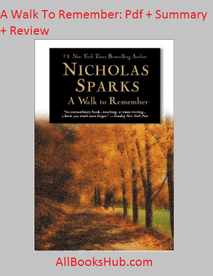 A walk to remember novel pdf free download.